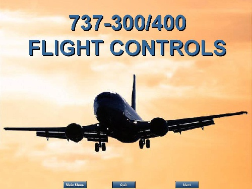FLIGHT CONTROLS B737-300-400